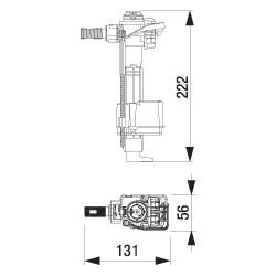 Valvola riempimento 747 attacco laterale con adattatore universale