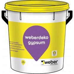 Idropittura lavabile specifica per cartongesso Weberdeko gypsum lt14