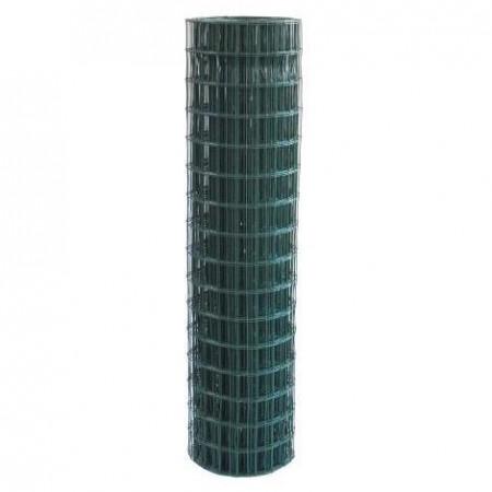 Rete metallica plastificata rotolo 1.50 x 25 metri maglie 75x50 F 1.8